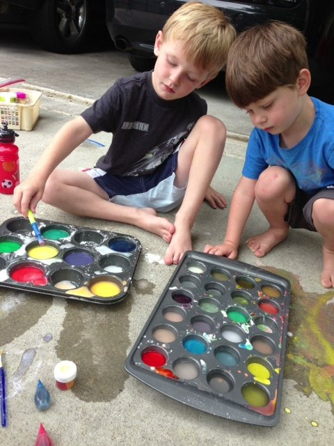 sidewalk chalk painting