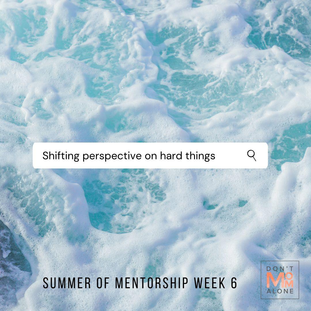 Shifting Perspective on Hard Things :: Summer of Mentorship Week 6